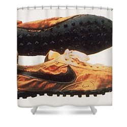 Bowermans Waffle Sole Design Shower Curtain by Photo Researchers