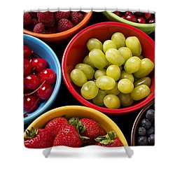 Bowls Of Fruit Shower Curtain