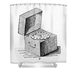 Box Chronometer Shower Curtain by Science Source