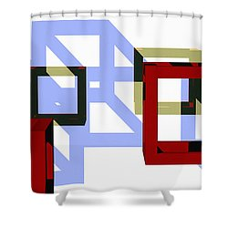 Boxed In Shower Curtain by Richard Rizzo