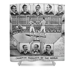 Boxing: American Champions Shower Curtain by Granger