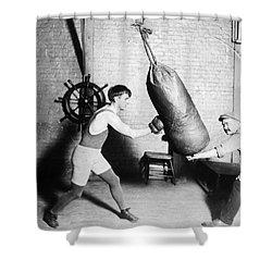 Boxing: Bat Nelson, 1920 Shower Curtain by Granger