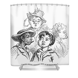 Boys With Bee Stings Shower Curtain by Granger