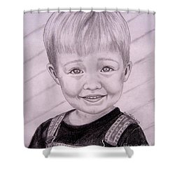 Shower Curtain featuring the drawing Brady by Julie Brugh Riffey