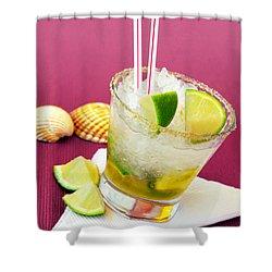 Brazilian Cocktail Shower Curtain by Carlos Caetano