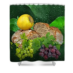 Bread Shower Curtain by Manfred Lutzius