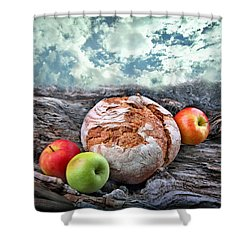 Bread Of The World Shower Curtain by Manfred Lutzius