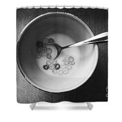 Breakfast Shower Curtain by Linda Woods