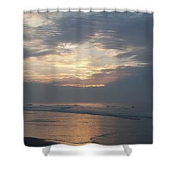 Breaking Through Shower Curtain by Bill Cannon