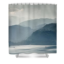 Breaking Through The Mist Shower Curtain by Ian Middleton
