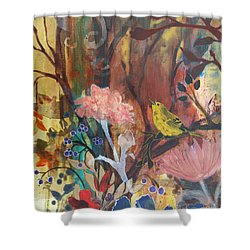 Shower Curtain featuring the painting Breath Of Cooler Air by Robin Maria Pedrero