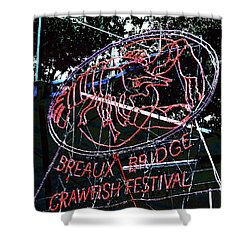 Breaux Bridge Crawfish Festival Shower Curtain