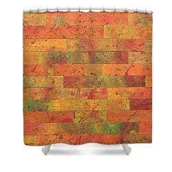 Brick Orange Shower Curtain