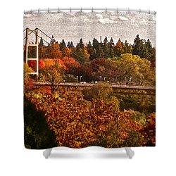 Bridge Shower Curtain by Bill Owen