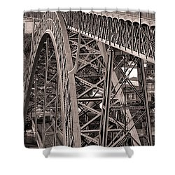 Bridge Construction Shower Curtain