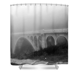 Bridge In Fog Shower Curtain