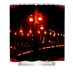 Bridge Of Lions Alit Shower Curtain by DigiArt Diaries by Vicky B Fuller