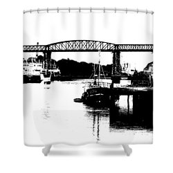 Shower Curtain featuring the photograph Bridge On The Boyne by Charlie and Norma Brock