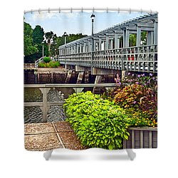 Bridge Over Canal Shower Curtain