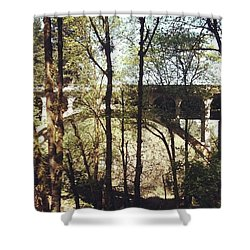 Bridge Over Lake Oswego Creek Shower Curtain