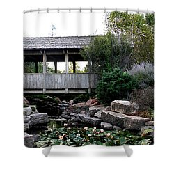 Shower Curtain featuring the photograph Bridge Over Water by Elizabeth Winter