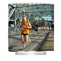 Shower Curtain featuring the photograph Bridge Runner by Alice Gipson