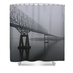 Bridge To Nowhere Shower Curtain by Shelley Neff