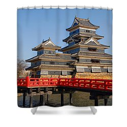 Bridge To The Matsumoro Castle Shower Curtain