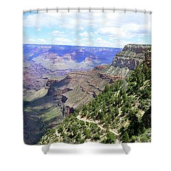 Shower Curtain featuring the photograph Bright Angel Trail by Paul Mashburn