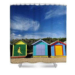 Brighton Beach Shower Curtain by Yew Kwang