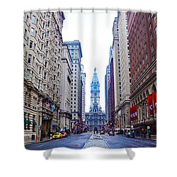 Broad Street Avenue Of The Arts Shower Curtain by Bill Cannon