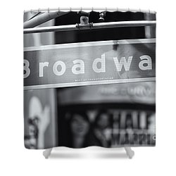 Broadway Street Sign II Shower Curtain by Clarence Holmes