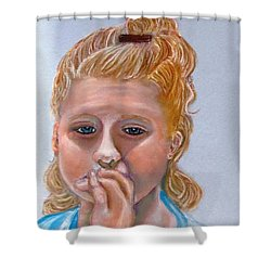 Broken Hearted Shower Curtain by Carol Allen Anfinsen