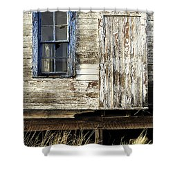 Shower Curtain featuring the photograph Broken Window by Fran Riley