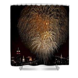 Brooklyn Bridge Celebrates Shower Curtain by Susan Candelario