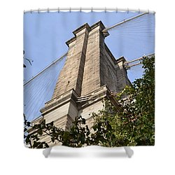 Shower Curtain featuring the photograph Brooklyn Bridge2 by Zawhaus Photography