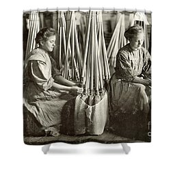 Broom Manufacture, 1908 Shower Curtain by Granger