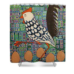 Brown Eggs Are Local Eggs And Local Eggs Have Wheels Shower Curtain