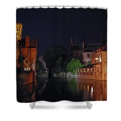 Shower Curtain featuring the photograph Bruges by David Gleeson