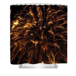 Brushed Gold Shower Curtain by Rhonda Barrett