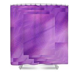 Brushed Purple Violet 7 Shower Curtain by Tim Allen