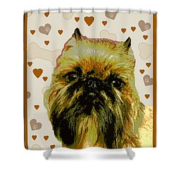 Brussels Griffen Shower Curtain by One Rude Dawg Orcutt