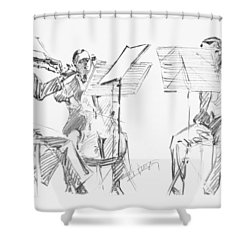 Brussels String Trio Shower Curtain by Granger