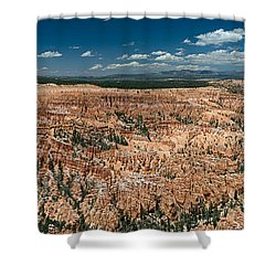 Bryce Canyon Panaramic Shower Curtain by Larry Carr