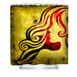 Btw I Loved You 1 Shower Curtain by Angelina Vick