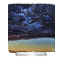 Bubble Cloud Shower Curtain by Douglas Barnard