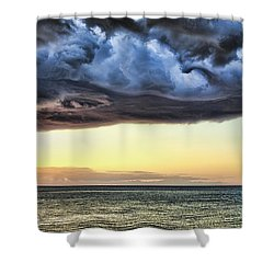 Bubble Cloud V2 Shower Curtain by Douglas Barnard