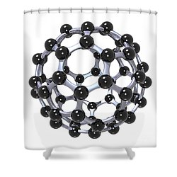 Buckminsterfullerene Or Buckyball C60 18 Shower Curtain