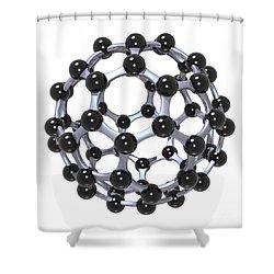 Buckminsterfullerene Or Buckyball C60 18 Shower Curtain by Russell Kightley