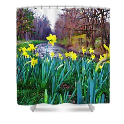Bucks County Spring Shower Curtain by Bill Cannon